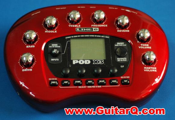 6 line 6 pod x3 音箱模拟效果器   78种吉他音箱前级模拟 24种箱体